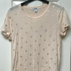 Pink and gold foil shirt